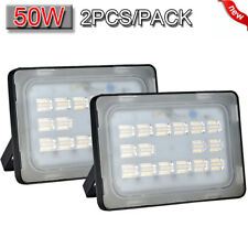 2x 50W LED Flood Light Warm White VIUGREUM Outdoor Spotlight Garden Yard Lamp