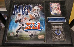 PEYTON MANNING COLTS FRAMED 8X10 PHOTO-MAN CAVE ART-12X15 WALL PLAQUE DISPLAY
