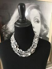 RARE Vintage Retired Signed SILPADA Sterling Quartz Rock Crystal Pearl Necklace