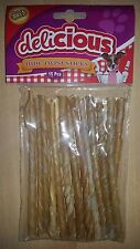 15 30 60 Rawhide Twisted Sticks Delicious Dog Chews Treats Chew Great Value!