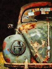 Celito Medeiros: Rusty Beetle Keilrahmen-Bild 40x50 Leinwand VW Käfer Oldtimer