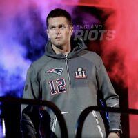 Nike New England Patriots Super Bowl 51 LI Tom Brady Media Night Hoodie XXL 2XL