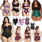Women Plus Size High Waist Bikini Set Push Up Padded Swimwear Beach Bathing Suit