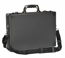 Aluminium Attache Metal Bag Laptop Carrier Office Mens Briefcase Hulk Black NEW