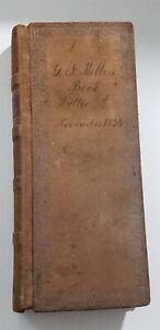 1834 antique Geo F MILLER STORE shaefferstown pa JOURNAL textiles whiskey food