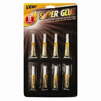 8 Pack Super Glue DIY Crafts wood Glass Superglue Strong Model Fast Fix Adhesive