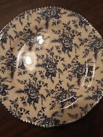 """WOOD AND SONS DINNER PLATE BLUE FLORAL 10 ¼"""" ENGLAND"""