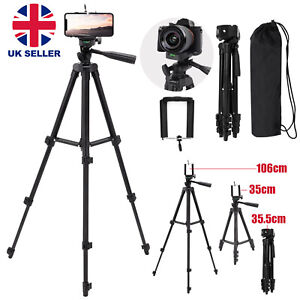 Universal Tripod Stand Telescopic Camera Phone Holder For iPhone Samsung Sony