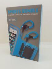 KitSound Race BLUETOOTH Earphones and FREE Armband BUNDLE  Sports Kit - BLUE