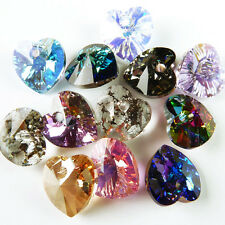 Swarovski : Heart Mix 10mm:  special finishes : 5 pairs