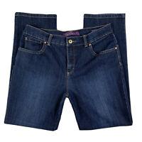 GLORIA VANDERBILT Women 8 Pants Jeans Denim Amanda Straight Leg Pockets Blue