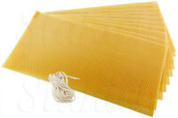 50 Sheets 100% Pure Natural Beeswax Candlemaking Bee Wax Candle Crafts Free Wick