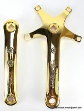 Campagnolo C-RECORD CRECORD CRANKSET Panto Engraved ERNESTO COLNAGO GOLD PLATED