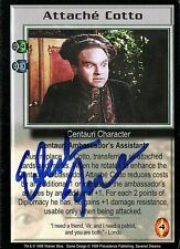 BABYLON 5 CCG Stephen Furst (1955-2017) SEVERED DREAMS Attache Cotto AUTOGRAPHED