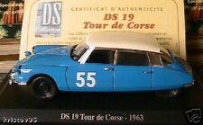CITROEN DS 19 BLEU TOUR DE CORSE 1963 NOREV 1/43 RALLYE