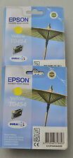 (PRL) EPSON T0454 GIALLO LOTTO YELLOW INCHIOSTRO LOT CARTRIDGES PRINTER ORIGINAL
