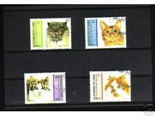 0909++GUINEE   SERIE TIMBRES  CHATS  N°2
