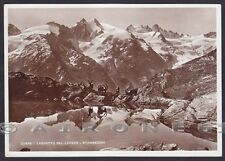 VALLE D'AOSTA COGNE 78b LAGO LAUSON STAMBECCHI Cartolina FOTOG. viagg 1938 DIENA