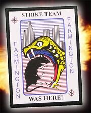"THE SHIELD ""STRIKE TEAM"" (Was Here) - Classic 4"" Quality Iron-On Patch..."
