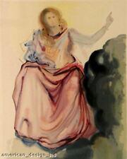 Salvador Dali The Divine Comedy woodblock art print PARADISE Canto 4 MAKE OFFER