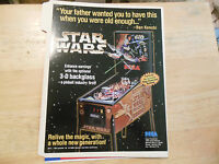 star wars trilogy   pinball  sega  GAME  FLYER