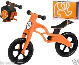 """Pop Bike Children Kids Learn Balance Bike 12"""" EN71 & CE Certified Safety ORANGE"""