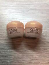 Lot of 2 Shiseido Benefiance WrinkleResist24 Night Cream 10ml/0.34oz each