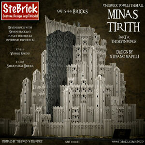Lego MOC Minas Tirith - The Lord Of The Ring - PDF Instructions