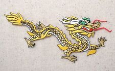 Chinese Dragon - RIGHT - Yellow/Gold - Iron on Applique/Embroidered Patch