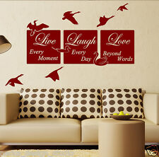 WALL QUOTES LIVE LAUGH LOVE  Wall Quotes Stickers   WALL ART  Vinyl Decal   N51