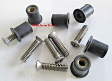 "Roof Rack Machine Stainless Steel Screws & Rubber Well Nuts 1/4""-20"