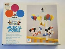 New listing Vintage 80's Disney Babies Musical Mobile By Dolly Baby Mickey Mouse Minnie 661