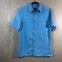 Marmot Short Sleeve Button Down Shirt Blue Men's Size S