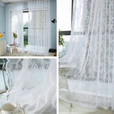 Lace Floral Curtains Fabric Cloth DIY Window Door Tulle Sheer Mesh Country Style
