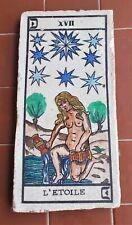 Piastrella d'epoca TAROCCHI LA STELLA L'etoile TAROT Tarocco Ceramica
