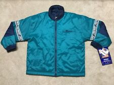 NEW 90s PRO PLAYER Miami DOLPHINS Blitz insulated NFL Coat Jacket NWT AQUA LARGE