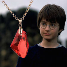 New Harry Potter Philosophers Anime Magic Stone Necklace Red Pendant Cosplay
