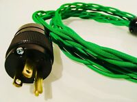 Audiophile Iso-Braid AC Power Cable IEC Connectors CUSTOM LENGTH 12AWG