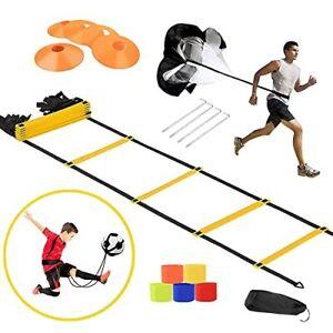 KIKILIVE Speed Agility Training Set Exercise Equipment Kit for Soccer/Footbal...