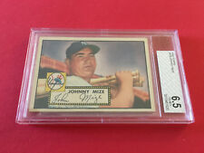 1952  TOPPS JOHNNY MIZE  BVG 6.5 CARD NO:129 RED BACK NEAR PLUS CONDITION