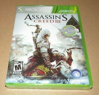 Assassin's Creed III (Xbox 360) Brand New / Fast Shipping