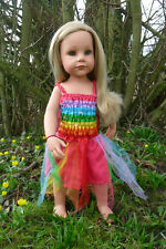 Fairy Doll Dress in Rainbow Colours suitable for 50cm Play Doll NEW