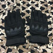 New Warrior Paintball Full Finger Flex Knuckle Gloves - Black - Large