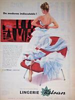 PUBLICITÉ DE PRESSE 1957 LINGERIE RILSAN CHEZ VOTRE FOURNISSEUR PRÉFÉRÉ