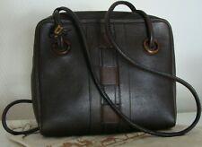 👜 sac DELVAUX, en cuir marron. TBE