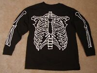 Halloween Skeleton Glow in the Dark L/S Tee Shirt Old Navy Sz  XS to XL