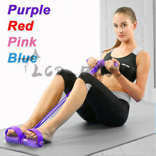 4-Tube Foot Pedal Resistance Band Body Stretch Pull Rope Yoga Fitness Exercise