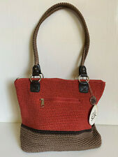 NEW THE SAK ORIGINAL HAND-CROCHETED LAUREN CAYEN BLOC SHOPPER TOTE BAG PURSE $79