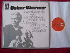 Oskar Werner parla poesie dal Mörike, Heine, de Saint-Exupery, Trakl RARE LP