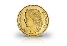 20 Franken Goldmünze 1883 - 1896 Schweiz Helvetia
